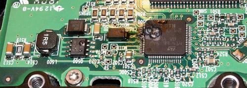 Проблемы с электроникой жесткого диска